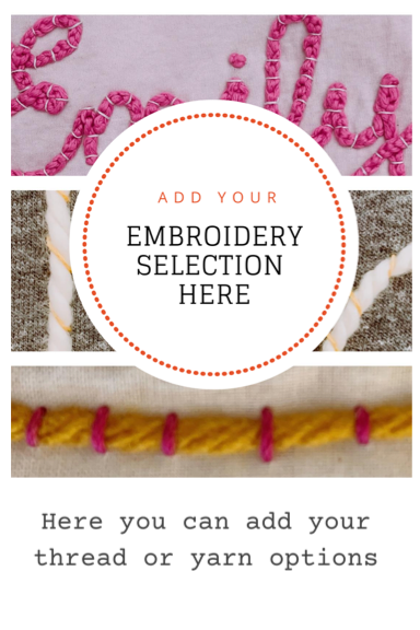 Embroidery Options