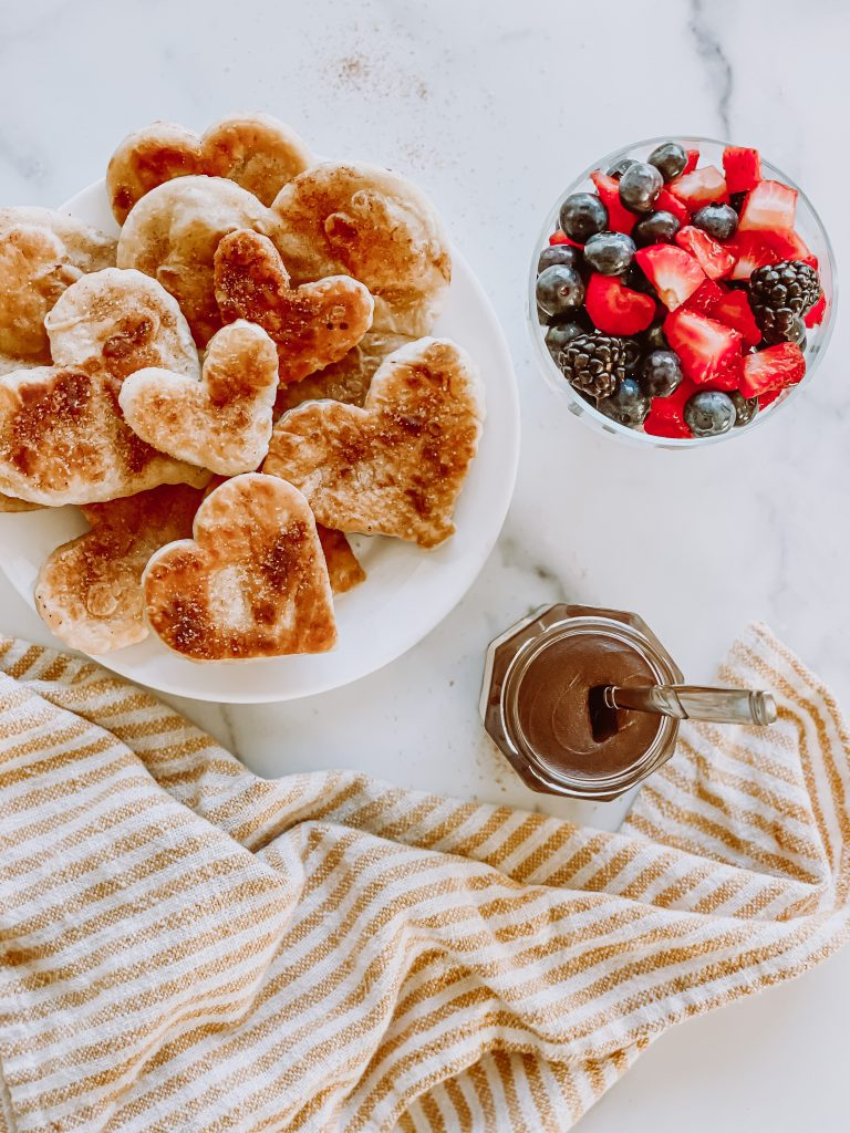 Heart Shaped Buñuelos (Mexican fritters