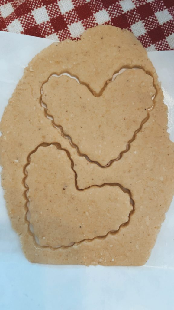 Valentine's Day Craft heart shaped tortilla chips